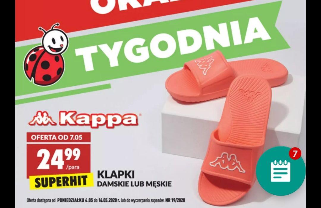 Damskie i męskie klapki Kappa Biedronka