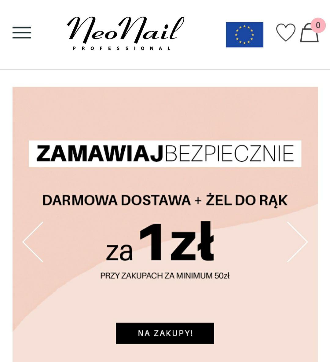 NeoNail darmowa dostawa plus żel do rąk za 1 zł