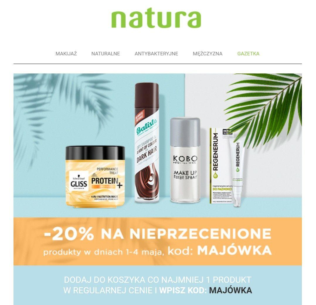 Natura -20% na nieprzecenione produkty