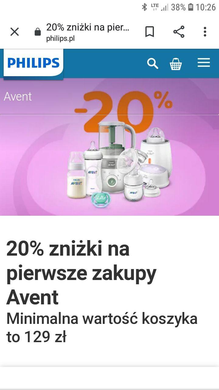 -20% na zakup produktów Avent Philips