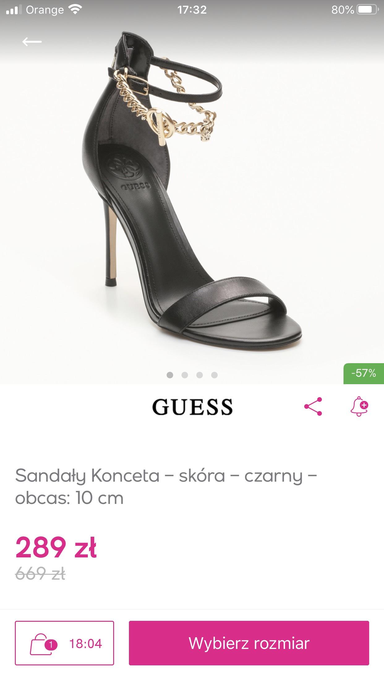 Buty Guess - wiele modeli, ceny nawet poniżej 300zł