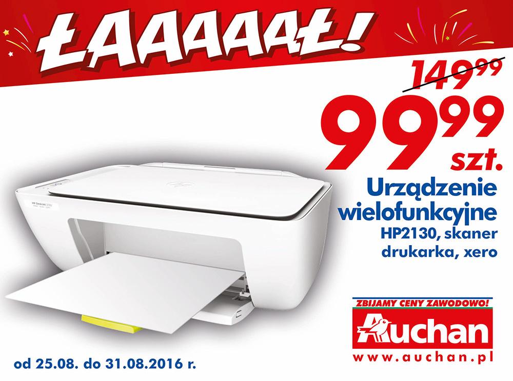 Urządzenie wielofunkcyjne (drukarka, kopiarka, skaner) HP 2130 za 99,99PLN @ Auchan