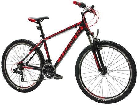 Rower górski MTB INDIANA X-Pulser 1.6 M17 Czarno-Czerwony 26 cali, 18 biegów, lekka aluminiowa rama
