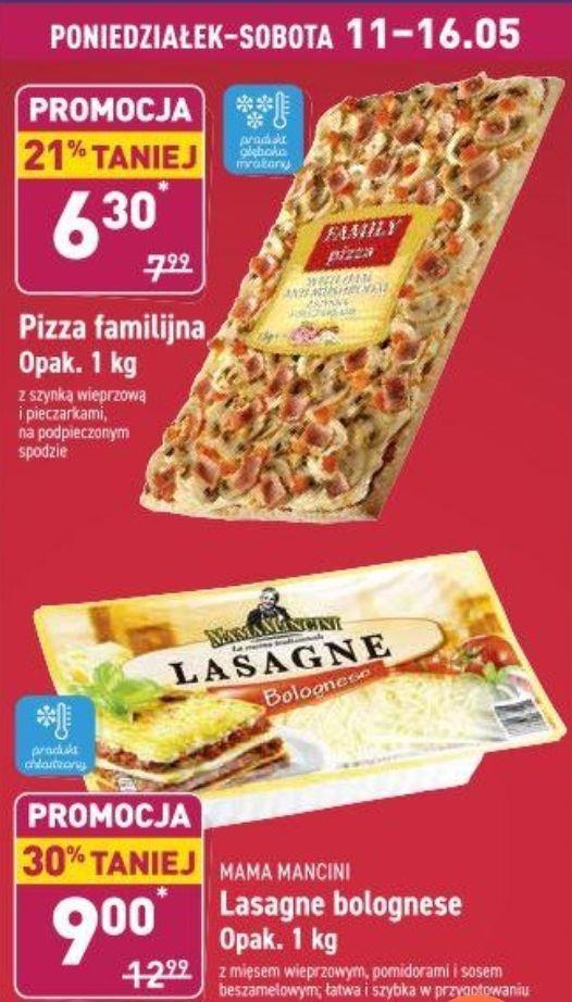 Pizza Familijna I Lasagne Bolognese w Aldi