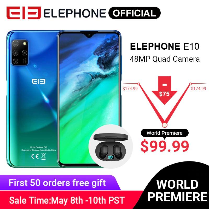 (możliwe 333zł(?) + gratisy) Elephone E10 4/64GB, NFC, 4 aparaty/48MP, czytnik linii papilarnych