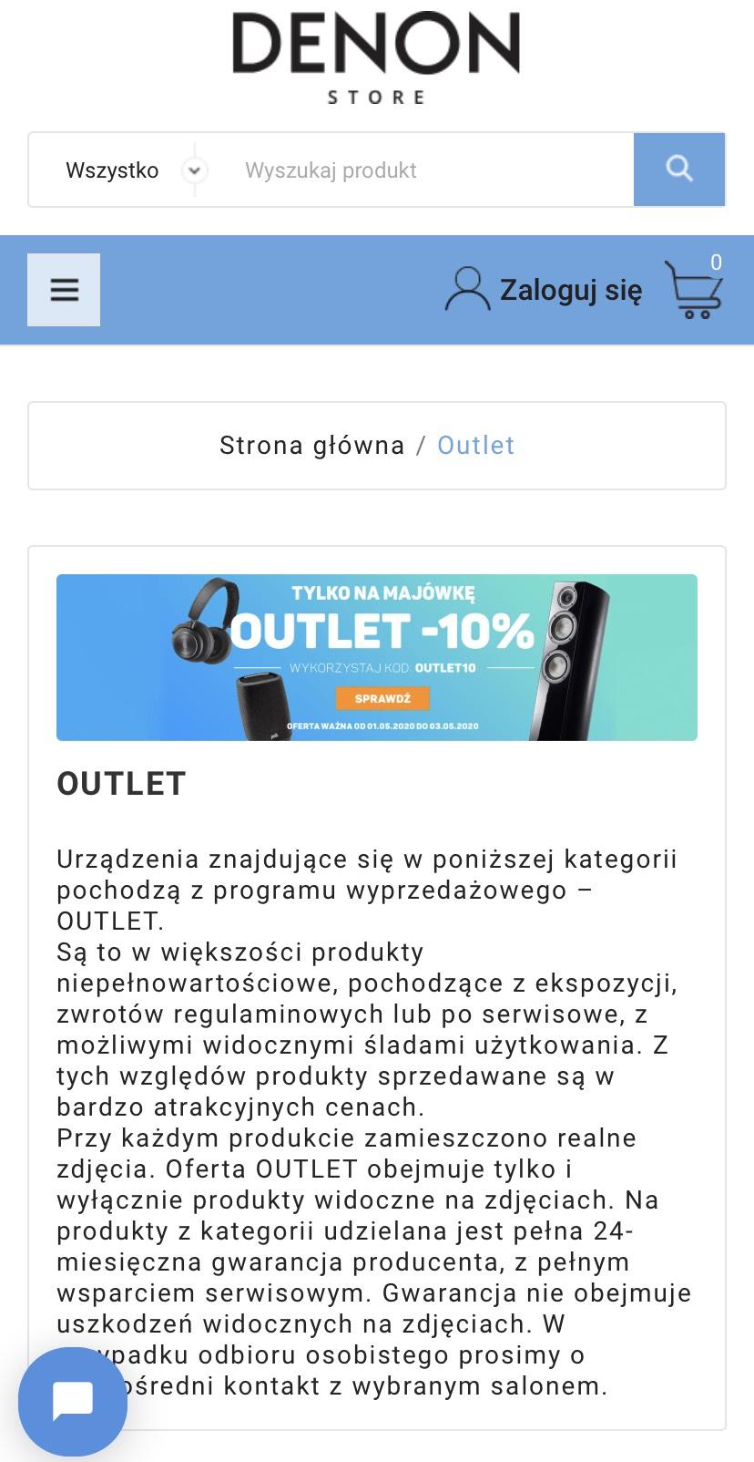 -10% na produkty Denon Outlet