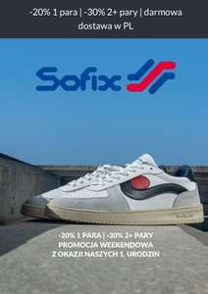 Rabat 20% I 30% na buty sofix