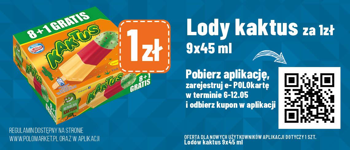 Lody kaktus - Polomarket