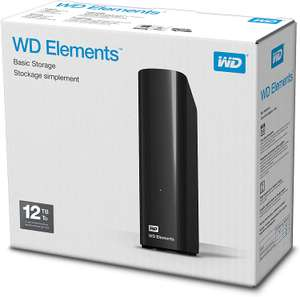 Dysk WD Elements Desktop 12TB @Amazon.co.uk £185.99