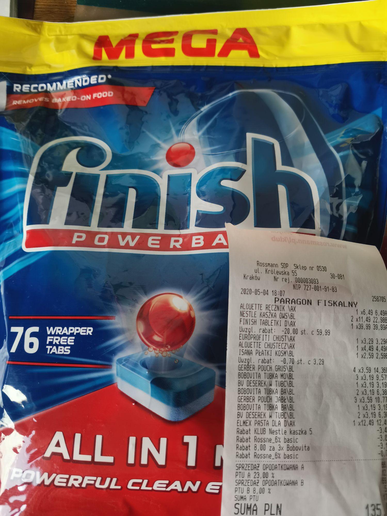 Finish Powerball All in 1 tabletki do zmywarki 76szt Rossmann