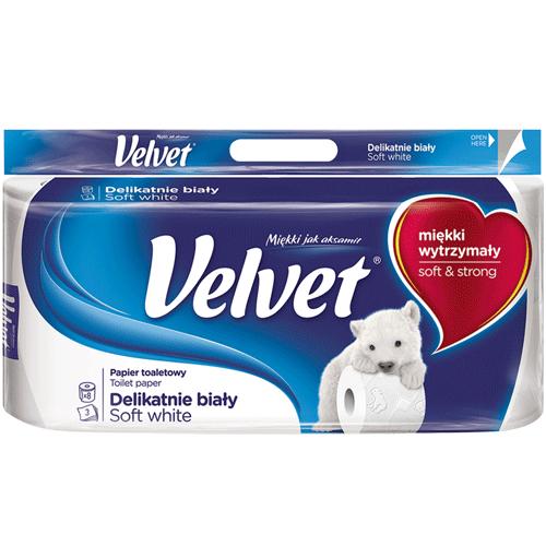 Papier toaletowy Velvet 3-warstwowy,8 sztuk opakowanie w sklepie Intermarche