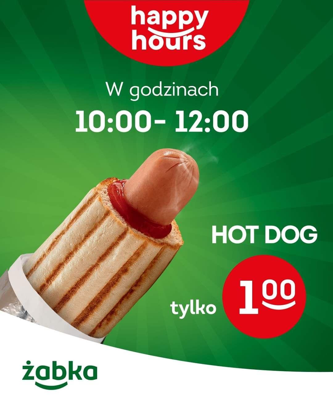 Hot dog w żabce za 1zł! Promocja w godzinach 10:00-12:00 Żabka