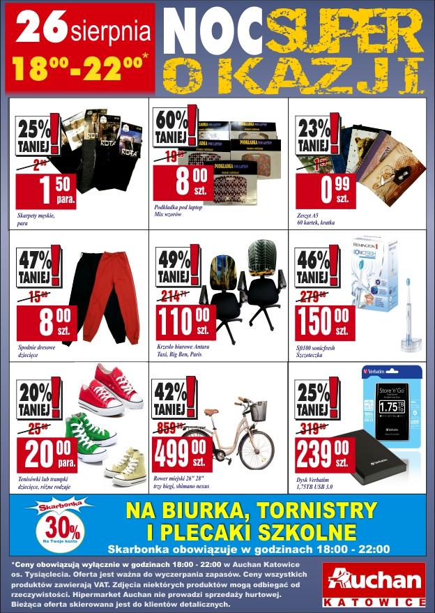 Noc Super Okazji - Auchan 26.08 18:00-22:00