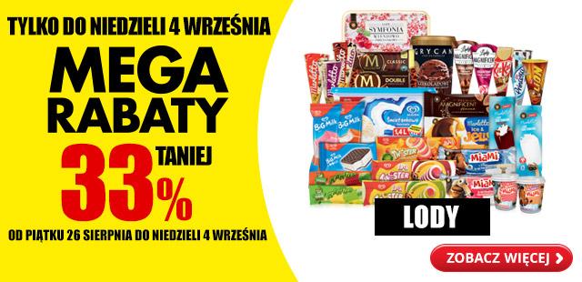 """Mega Rabaty – Lody 33% taniej"" @ Biedronka"
