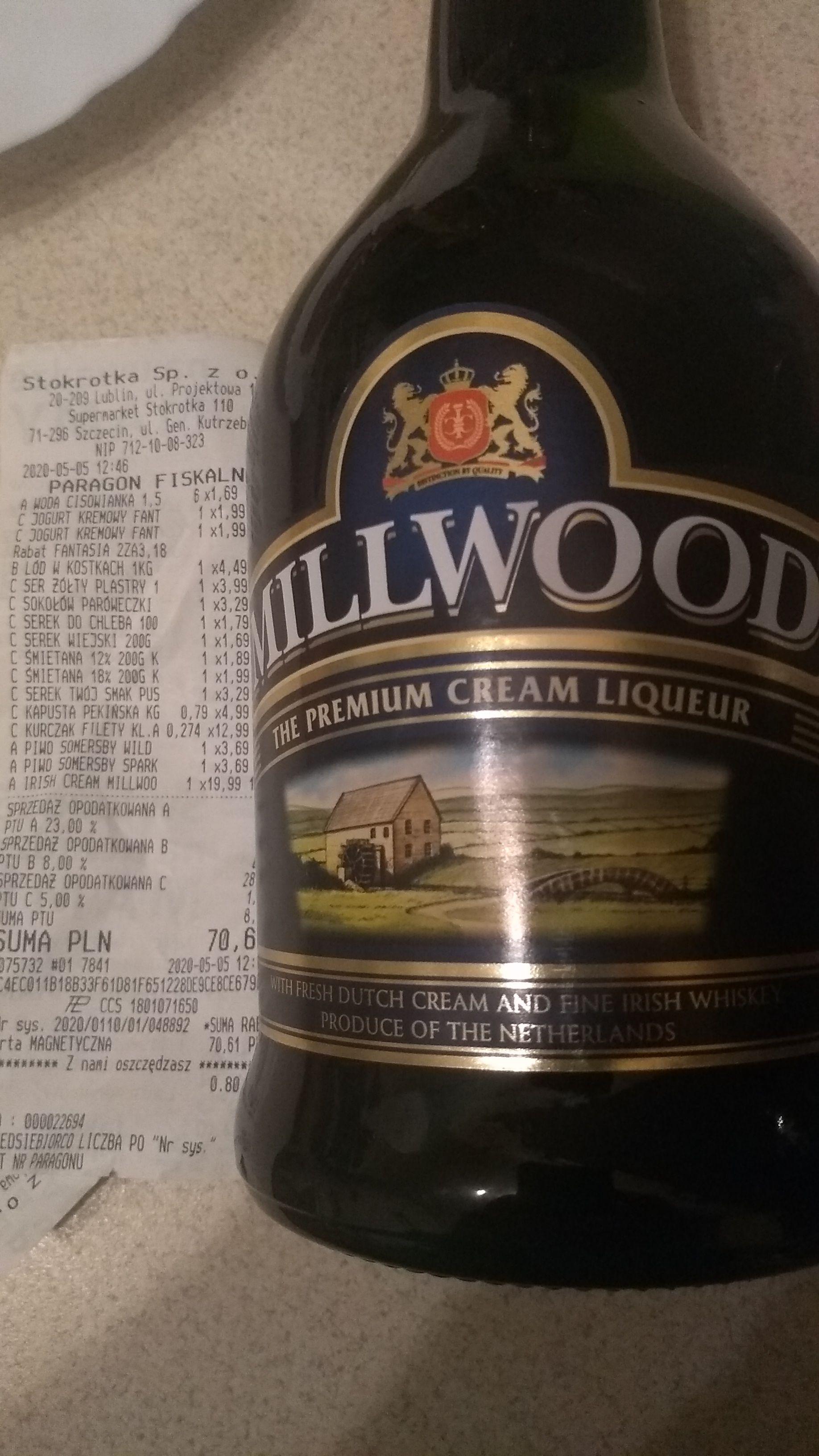 Likier Millwood 0,7l w stylu Baileys w Stokrotka