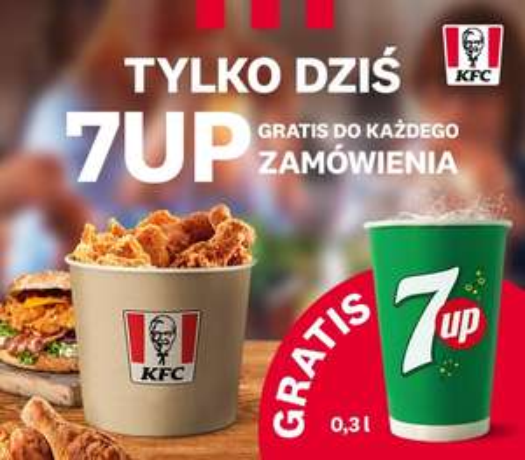 7 up za darmo do zamówień w KFC