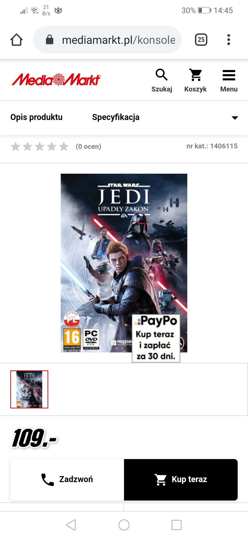 Gra PC Star Wars Jedi: Upadły Zakon