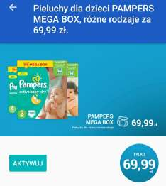 Pampers Mega Box za 69,99zl. z kuponem @ Carrefour