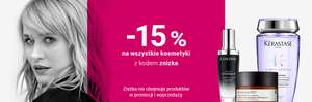 15% na wszystkie kosmetyki w Notino