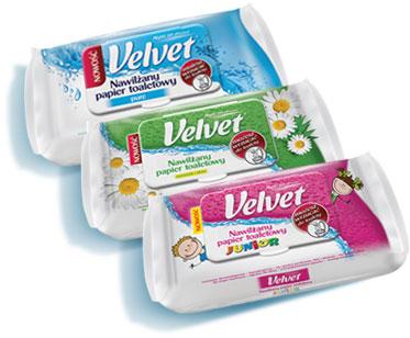 Zwrot za zakup nawilżanego papieru toaletowego Velvet