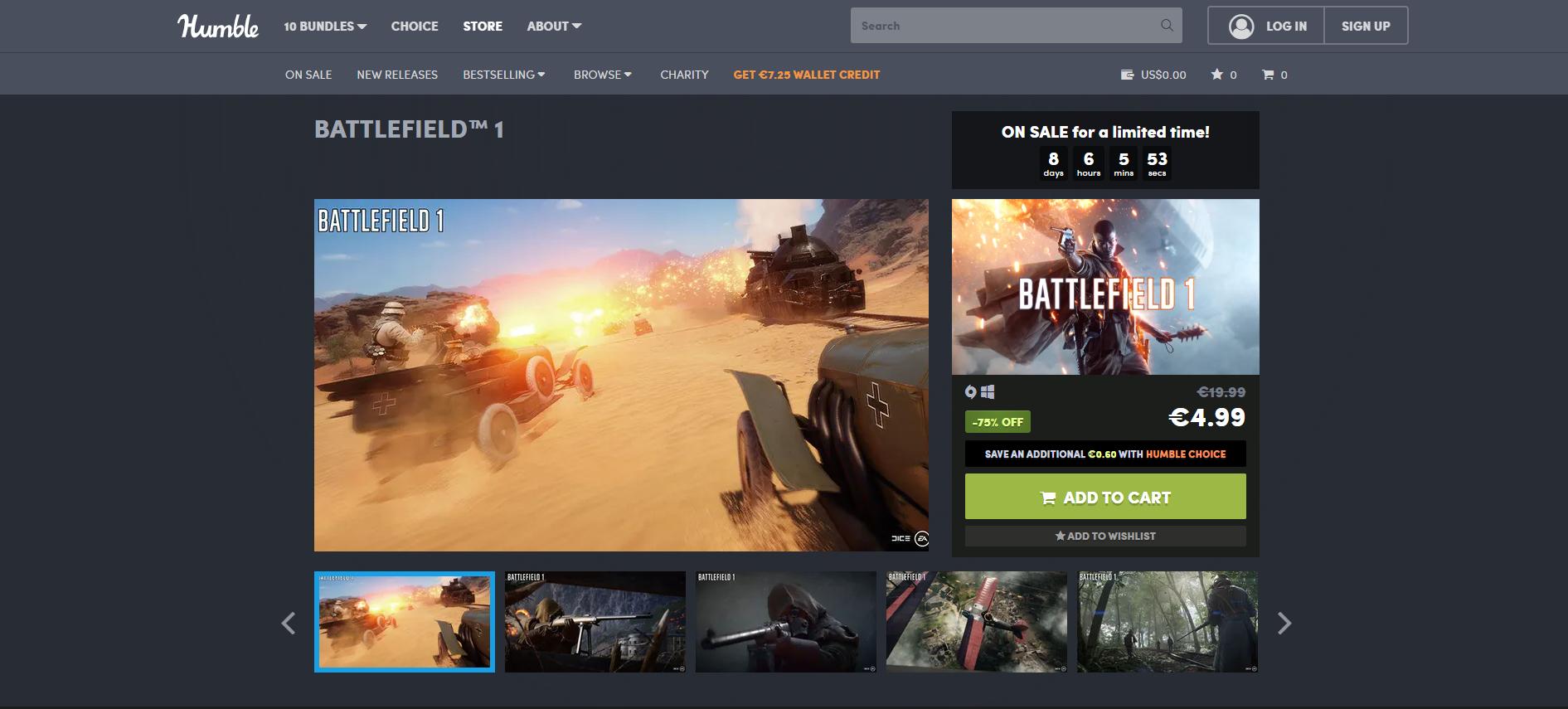Battlefield 1 za 22zł