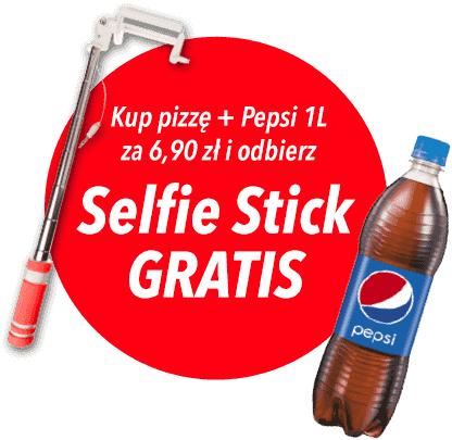 Selfie stick GRATIS przy zakupie pizzy i Pepsi @ Telepizza