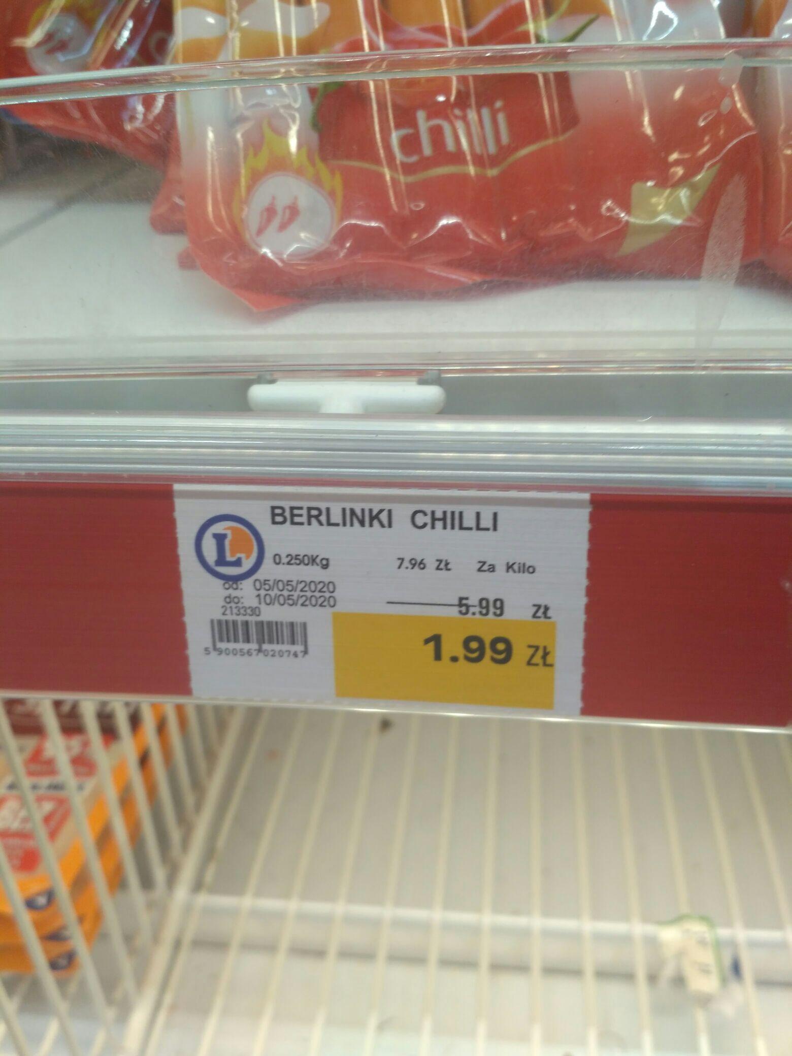 Parówki Berlinki chilli