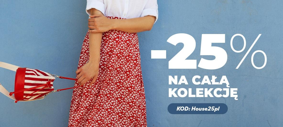 -25% na wszystko w House + darmowa dostawa MWZ=120 zł