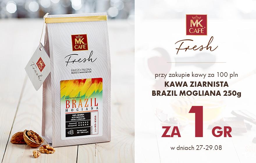 Kawa MK Cafe Brazil Mogiana 250g za 1 Grosz za zakupy za 90zł