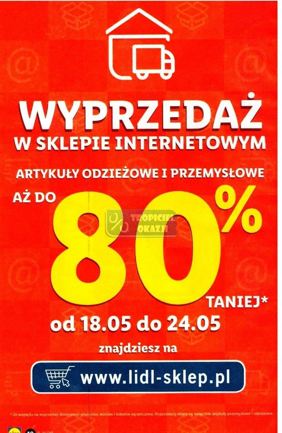 Wyprzedaż w sklepie online - Lidl