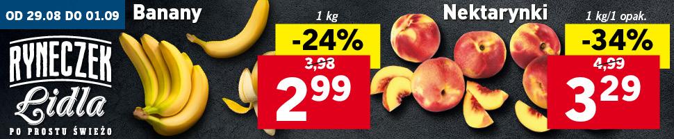 Banany kg/Nektarynki kg @Lidl