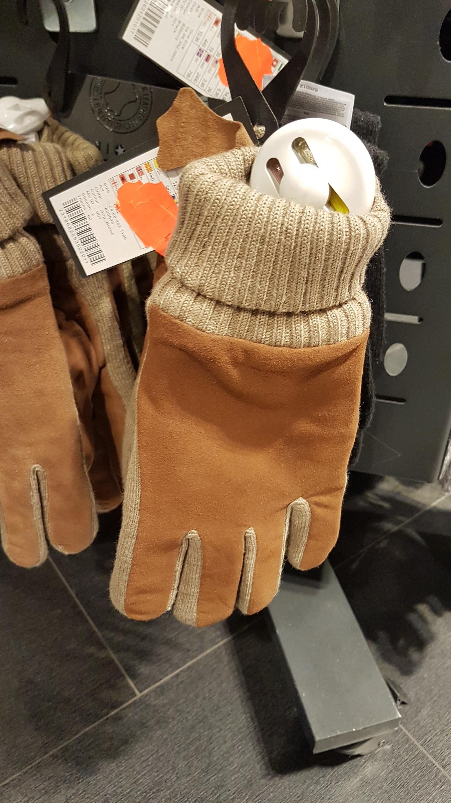 Rękawice zimowe w New Yorker