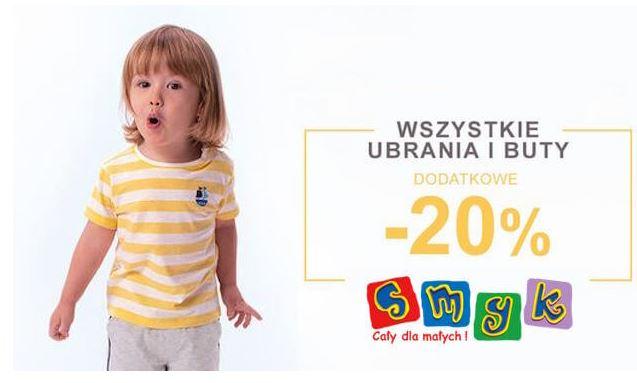 Dodatkowe 20% rabatu na drugi tańszy produkt w sklepie internetowym smyk.com.