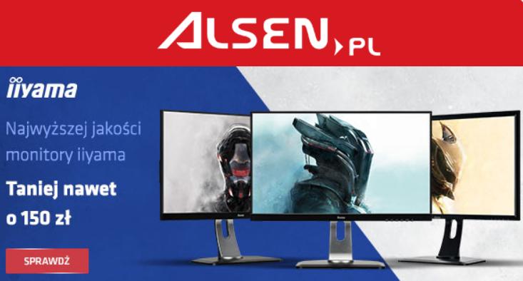 Wyprzedaż monitorów IIYAMA w alsen.pl