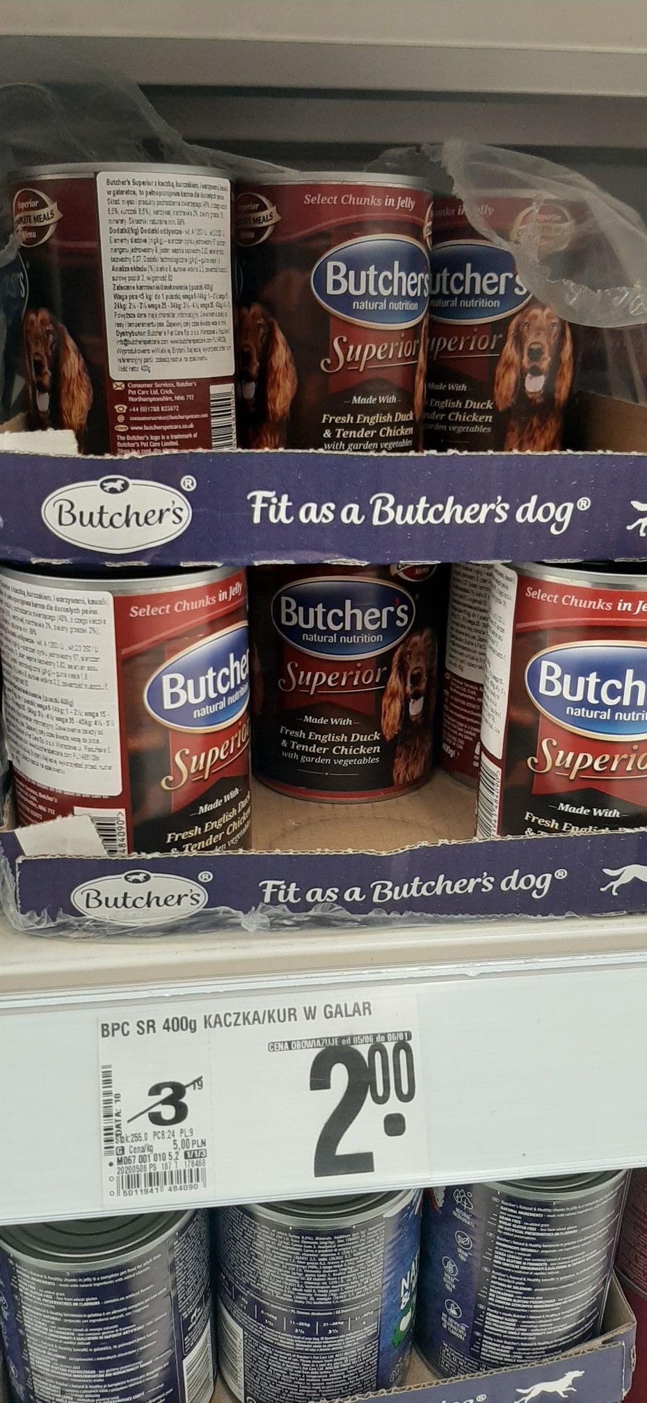 Karma dla psów Butcher's - Superior 400gr / Auchan Ursynów