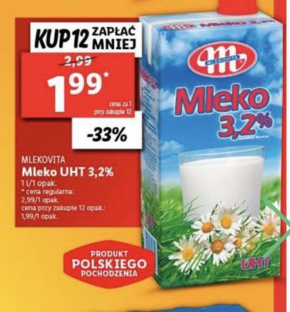 Mleko Mlekovita 3,2% Lidl