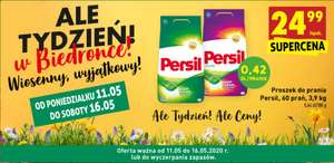 Proszek do prania PERSIL 3,9KG 60 prań | 0,42zl/pranie 6,4zl/kg