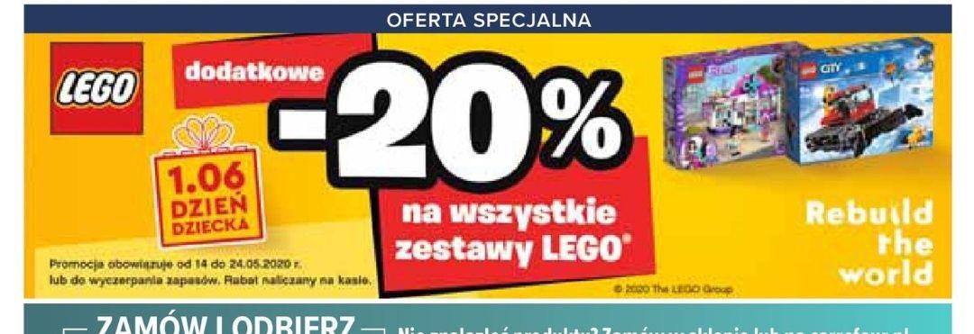 20% rabatu na klocki LEGO w Carrefour