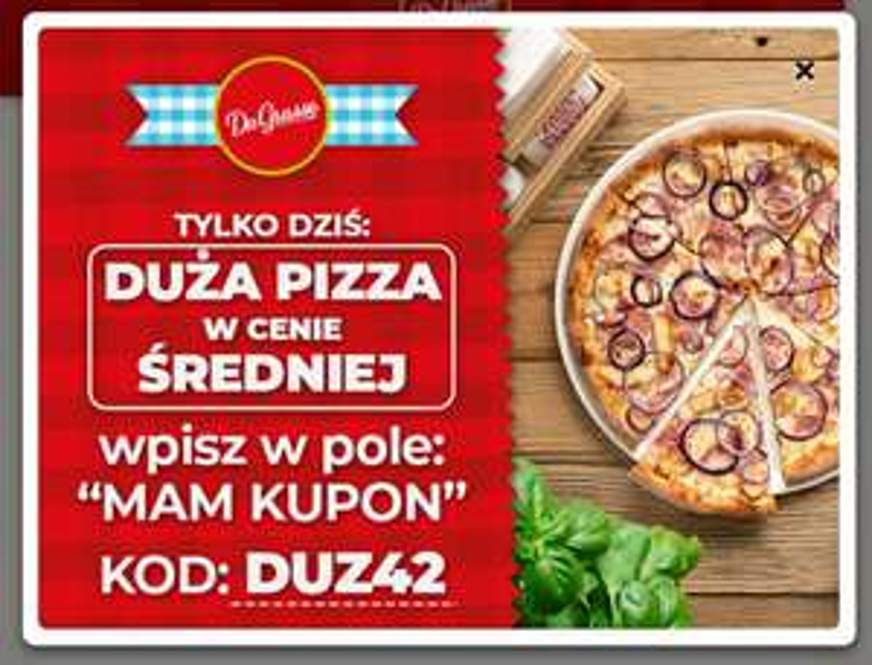 Dagrasso duża pizza w cenie średniej Stargard