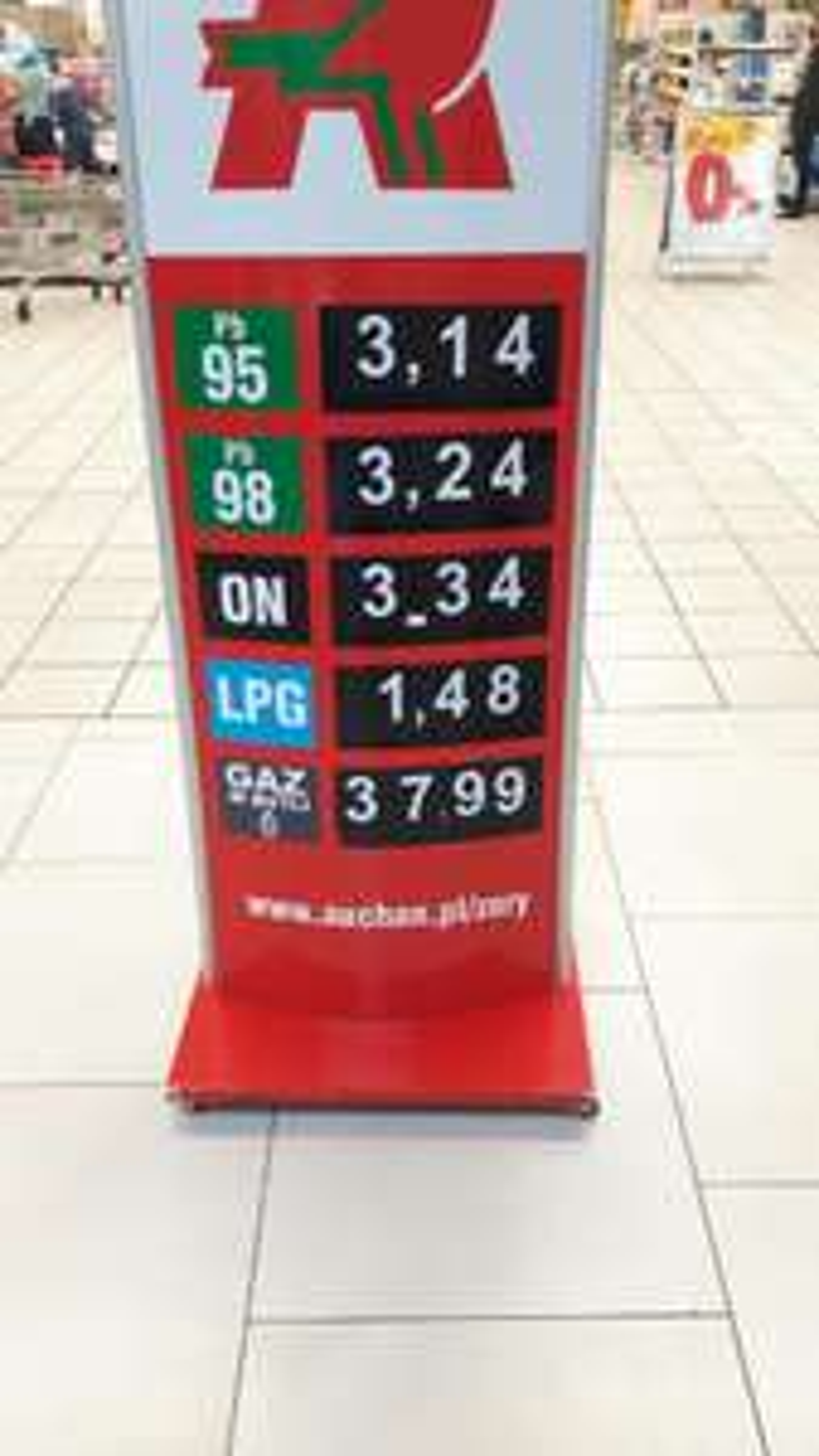 Paliwo PB95 Auchan Żory