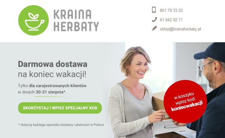 Darmowa dostawa w KrainaHerbaty.pl