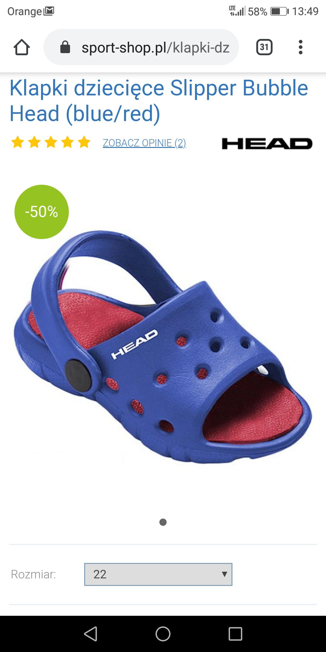 Klapki dziecięce Slipper Bubble Head (blue/red)