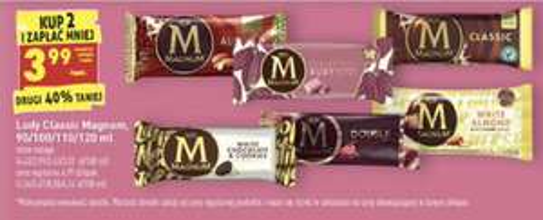 Dowolne lody Magnum - cena przy zakupie dwóch - Biedronka