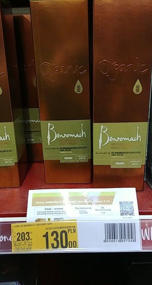 Whisky Benromach organic Auchan Toruń Kometa