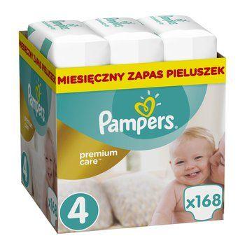 Pieluchy pampers premium care 4 168szt.