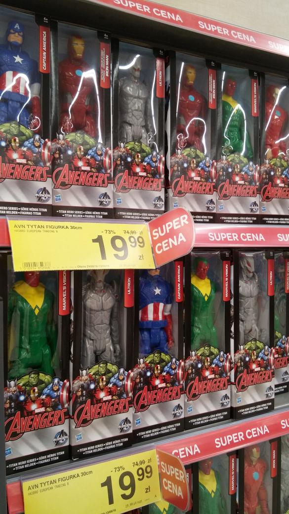 figurki/lalki Avengers 73% taniej w Carrefour