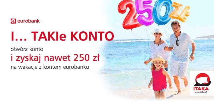 Do 250zł na wakacje z Itaką za założenie konta @ Eurobank