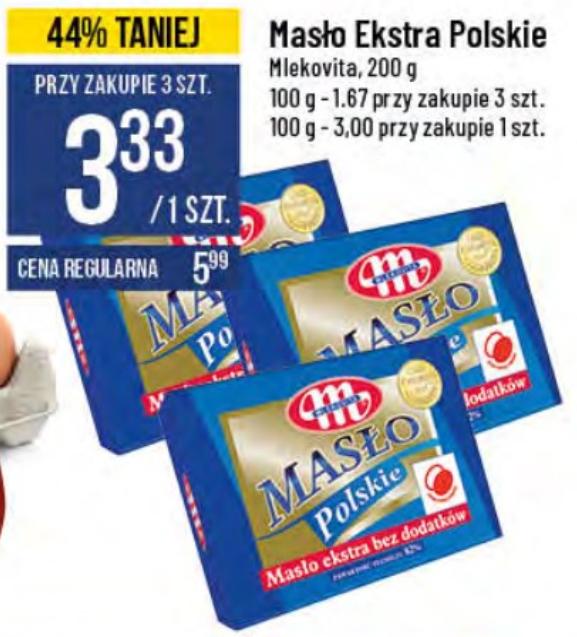 Masło Ekstra Polskie (przy zakupie 3 sztuk)
