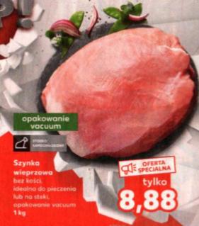 Szynka wieprzowa, vaccum 1kg, bez kości Kaufland