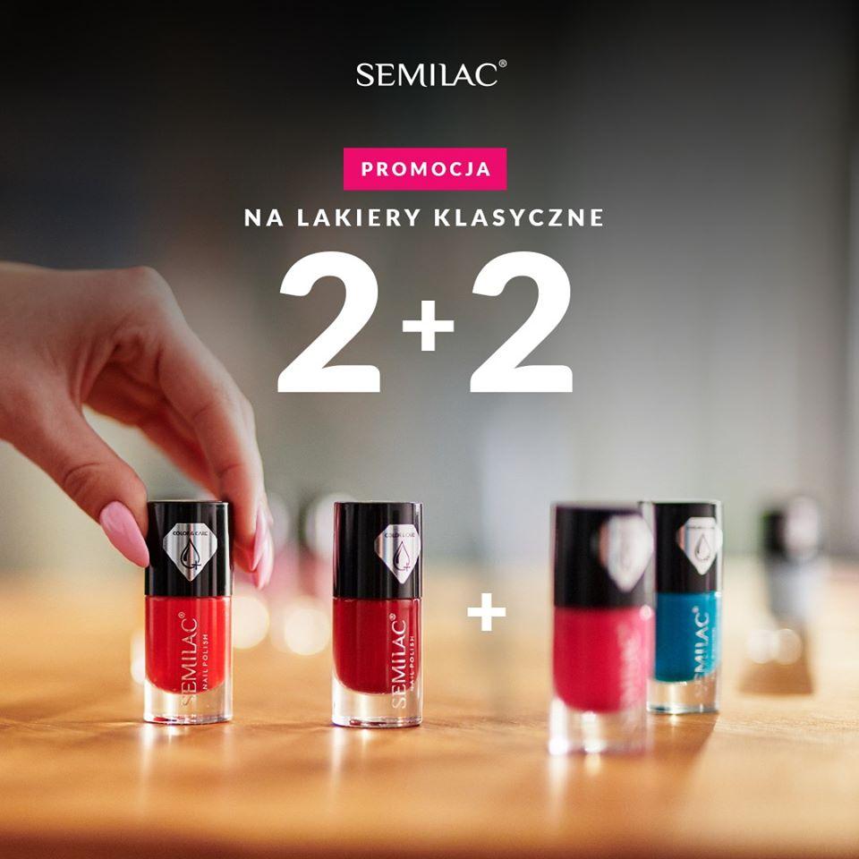 2+2 na lakiery klasyczne oraz -50% na lampę przy zakupie dwóch lakierów One Step Hybrid @ Semilac